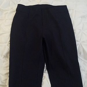 H&M Navy blue pin striped leggings BNWT